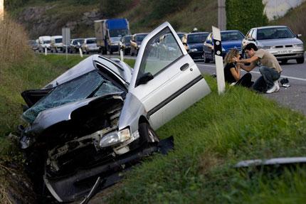 Accidente de tráfico, 28 de septiembre de 2009. © Miki López