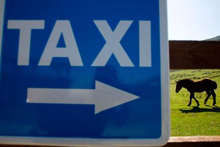 Parada de Taxi en los lagos de Covadonga. © Miki López
