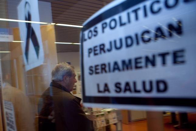 El ex consejero de cultura, Jose Luis Iglesias Riopedre, entra a declarar ante el juez Sorando en los juzgados de Oviedo. 16 de octubre de 2012. © Miki López/La Nueva España