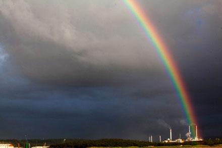Arco Iris tras la tormenta. San Juan de Nieva. 13 de mayo de 2013. © Miki López