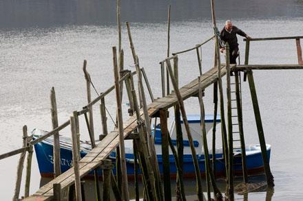 El Castillo, Soto del Barco. 24 de noviembre de 2006. Embarcadero. © Miki López