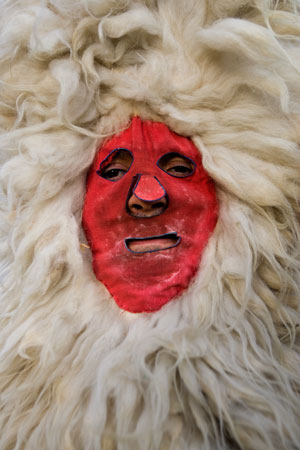 Máscara de Sidro. Valdesoto (SIero). 13 de febrero de 2007.  © Miki López