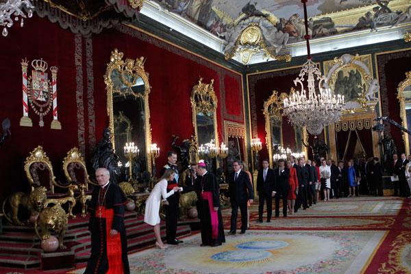 Besamanos. Palacio Real, Madrid, 19 de junio de 2014. © Miki López/La Nueva España