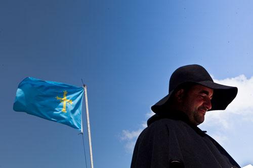 Bandera de Asturias. Aristébano (Tineo), 27 de julio de 2014. © Miki López