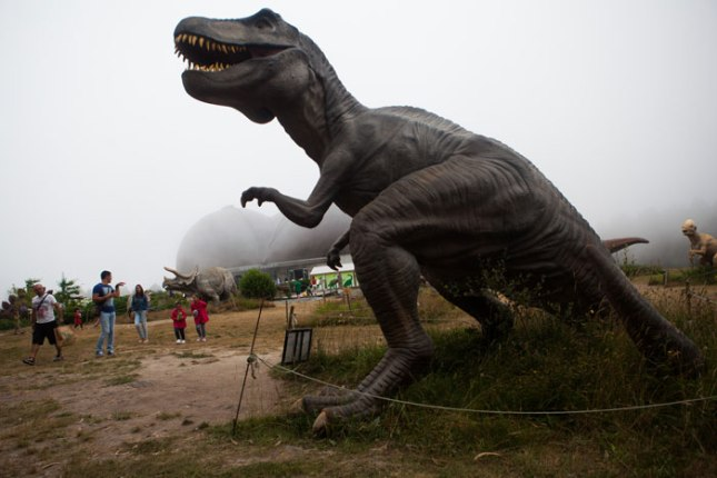 Tiranosaurio Rex. MUJA, Colunga. 21 de julio de 2015.  © Miki López