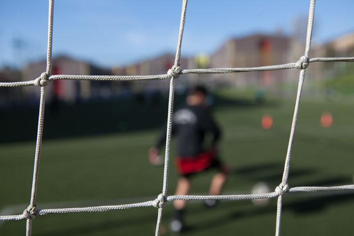 Red de portería de fútbol. Avilés, 2014. ©Miki López