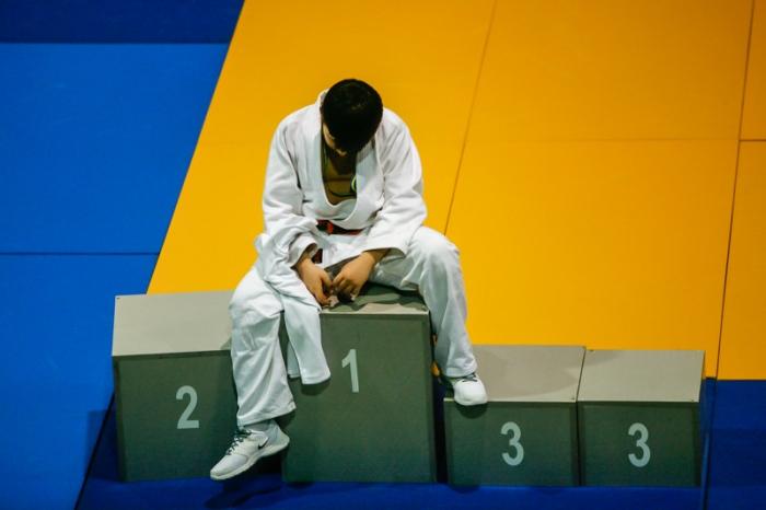 Podio. Campeonato de Asturias de judo alevín 2016. © Miki López