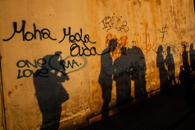 Fotografiando sombras. Lugones. 28 de agosto de 2015. © Miki López